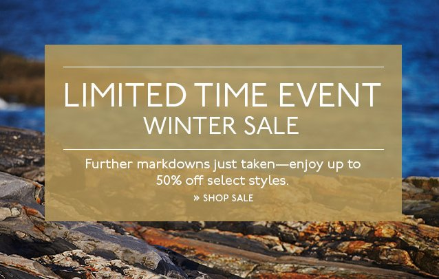 LIMITED TIME WINTER SALE | UP TO 50% OFF