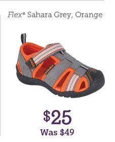 Flex Sahara Grey, Orange $25 Was $49