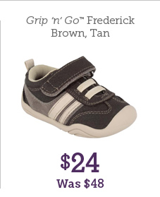 Grip 'n' Go Frederick Brown, Tan $24 Was $48