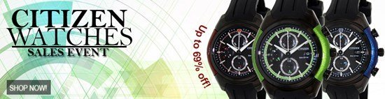 Save up to 69% during the Citizen Watches sales event