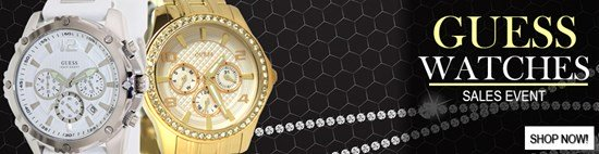 Save up to 39% during the Guess Watches sales event