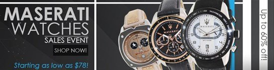 Save up to 60% during the Maserati Watches sales event