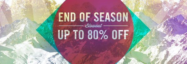 Shop End-of-Season Blowout: Up to 80% Off