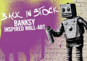 Shop Back in Stock: Banksy-Inspired Art