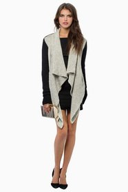 Me Shells Draped Cardigan