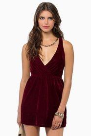 Unfettered Dreams Velour Dress