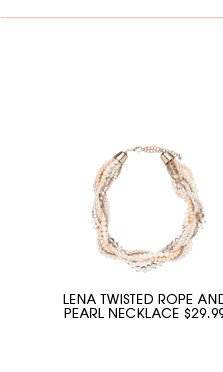 Lena twisted rope and pearl necklace.