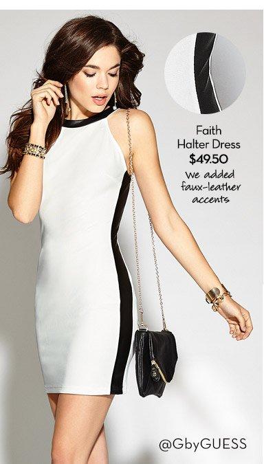 FAITH HALTER DRESS