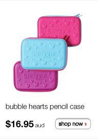bubble hearts pencil case - $16.95aud - shop now >