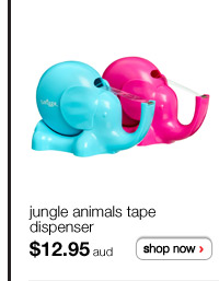 jungle animals tape dispenser - $12.95aud - shop now >