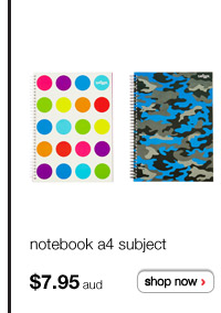 notebook a4 subject - $7.95aud - shop now >