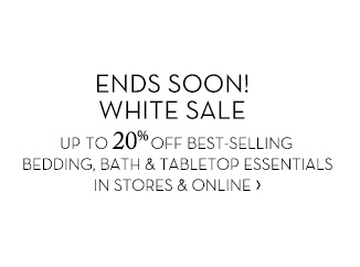 ENDS SOON! WHITE SALE
