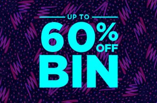 Up to 60% off Bin