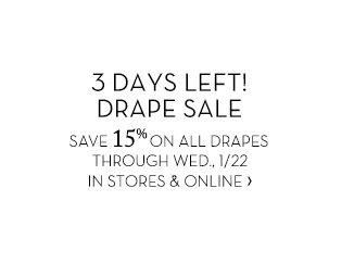 3 DAYS LEFT! DRAPE SALE