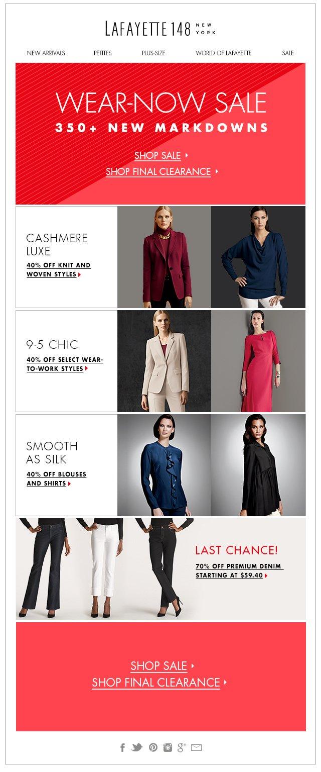 Wear-Now Sale: 350+ New Markdowns