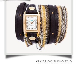 Venice Gold Duo Stud
