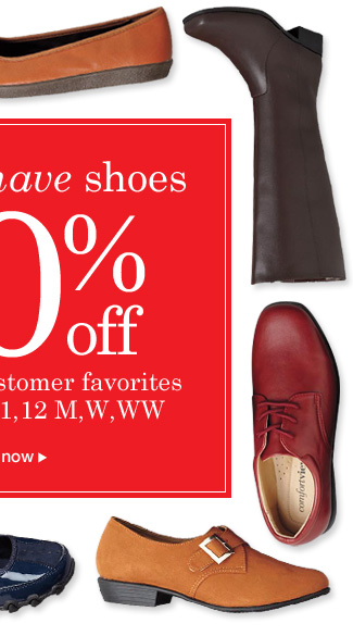 50 Shoes at 50% off!