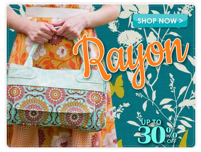 Up to 30% off the Rayon Apparel Fabrics