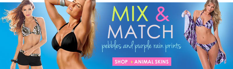 Shop Mix and Match Animal Print Swim!