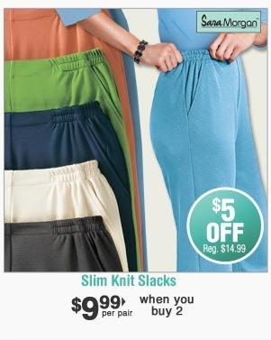 Shop Slim Knit Slacks