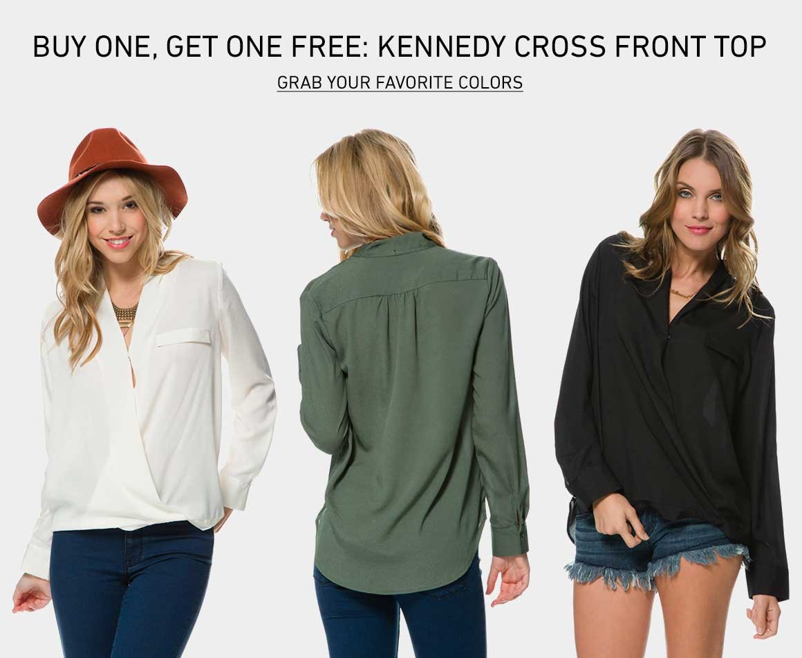 Buy One, Get One Free: Kennedy Cross Front Top