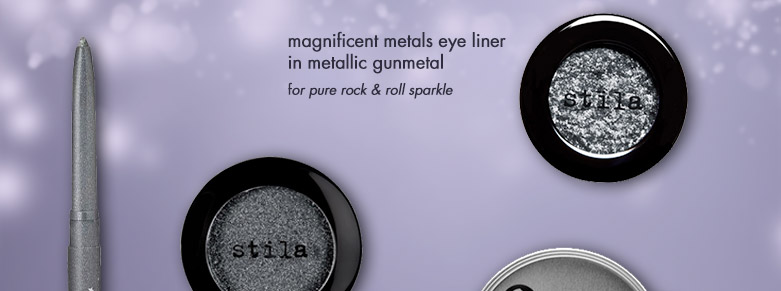 featuring product: magnificent metals eye liner in metallic gunmetal
