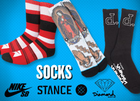 Socks from Nike SB, Stance, Diamond Supply Co. + More!