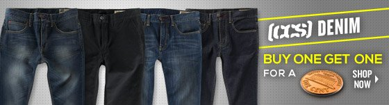 CCS Denim: Buy One Get One for a Penny!