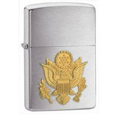 Zippo 280ARM US Army Emblem Brushed Chrome Windproof Lighter