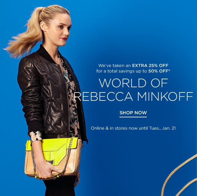 Up to 50% off Rebecca Minkoff
