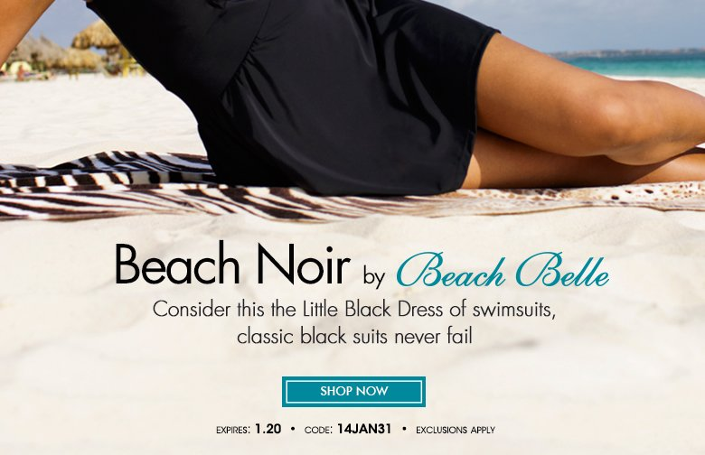 Beach Noir by Beach Belle - the Little Black Dress
