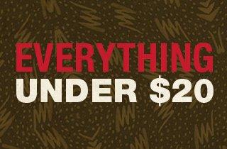 Everything Under $20 Mega-Sale