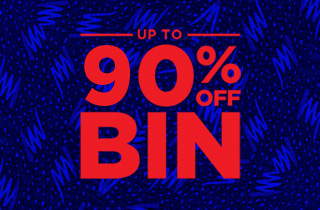 Up to 90% off Bin