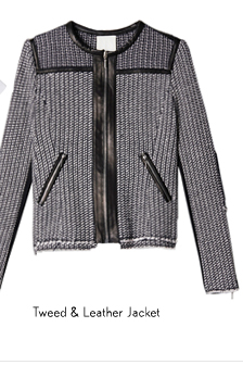 Tweed & Leather Jacket