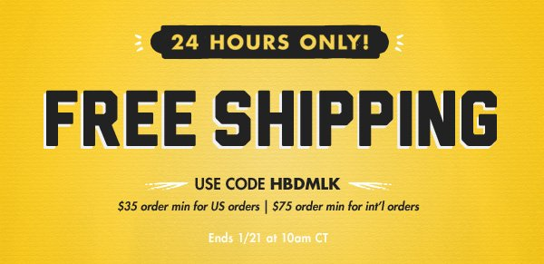 Free Shipping : 24 Hours Only!