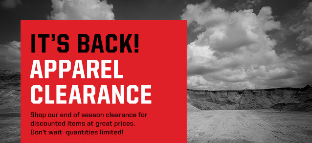 END OF SEASON APPAREL CLEARANCE