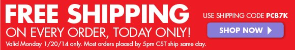 Free Shipping with $49+