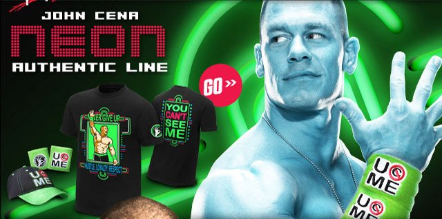 "John Cena ""Neon"" Authentic T-shirt"