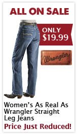 Womens As Real As Wrangler Jeans