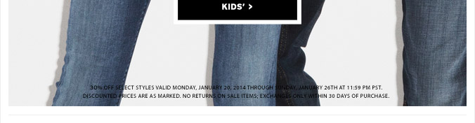 The End Of Season Sale - Kids'
