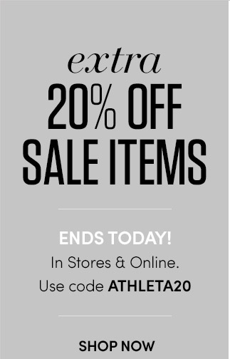 extra 20% OFF SALE ITEMS | ENDS TODAY! In Stores & Online. Use code ATHLETA20 | SHOP NOW