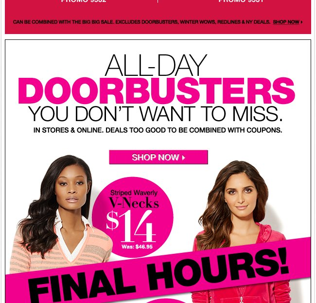 Final Hours - All Day Doorbusters!