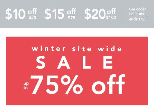 Shop Winter Site Wide Sale