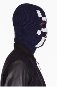 BAND OF OUTSIDERS Navy & white merino MONSTER MASKATARI edition balaclava for men