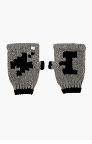 BAND OF OUTSIDERS Grey Pixel Print Atari Edition Smoker's Gloves for men