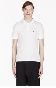 BAND OF OUTSIDERS White Haunted House Atari Edition Polo for men