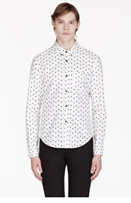 BAND OF OUTSIDERS White Pixel Print Atari Edition Shirt for men