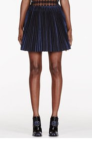 MAIYET Navy stiff Pleat Short Skirt for women