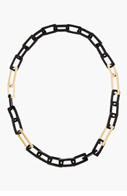 MAIYET Gold & Black Horn Link Necklace for women