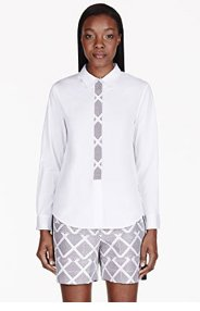 MAIYET White Chevron Blouse for women